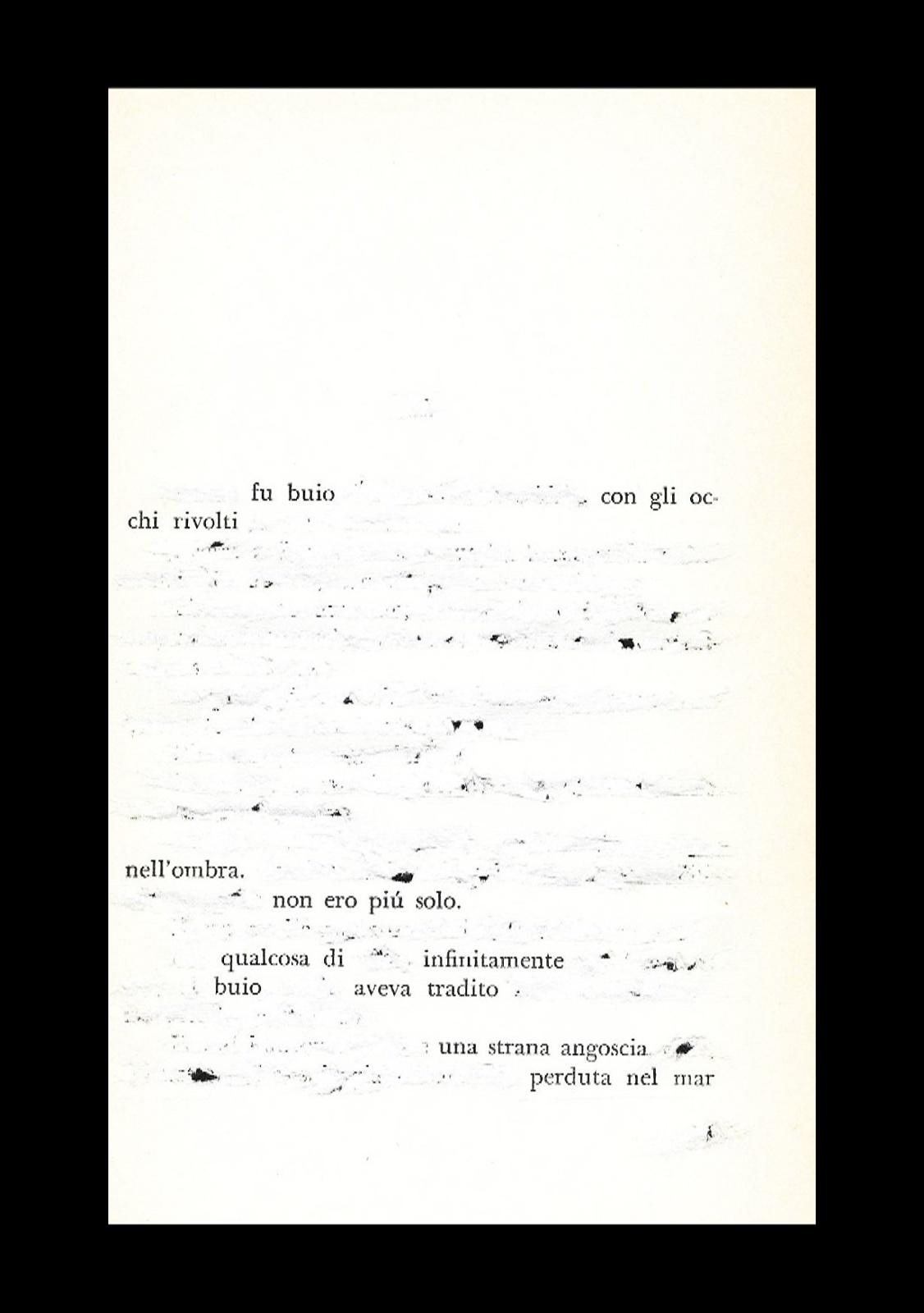 Fu buio - cacciavite su pagina in esilio dal libro - cornice 18x24 - 2021