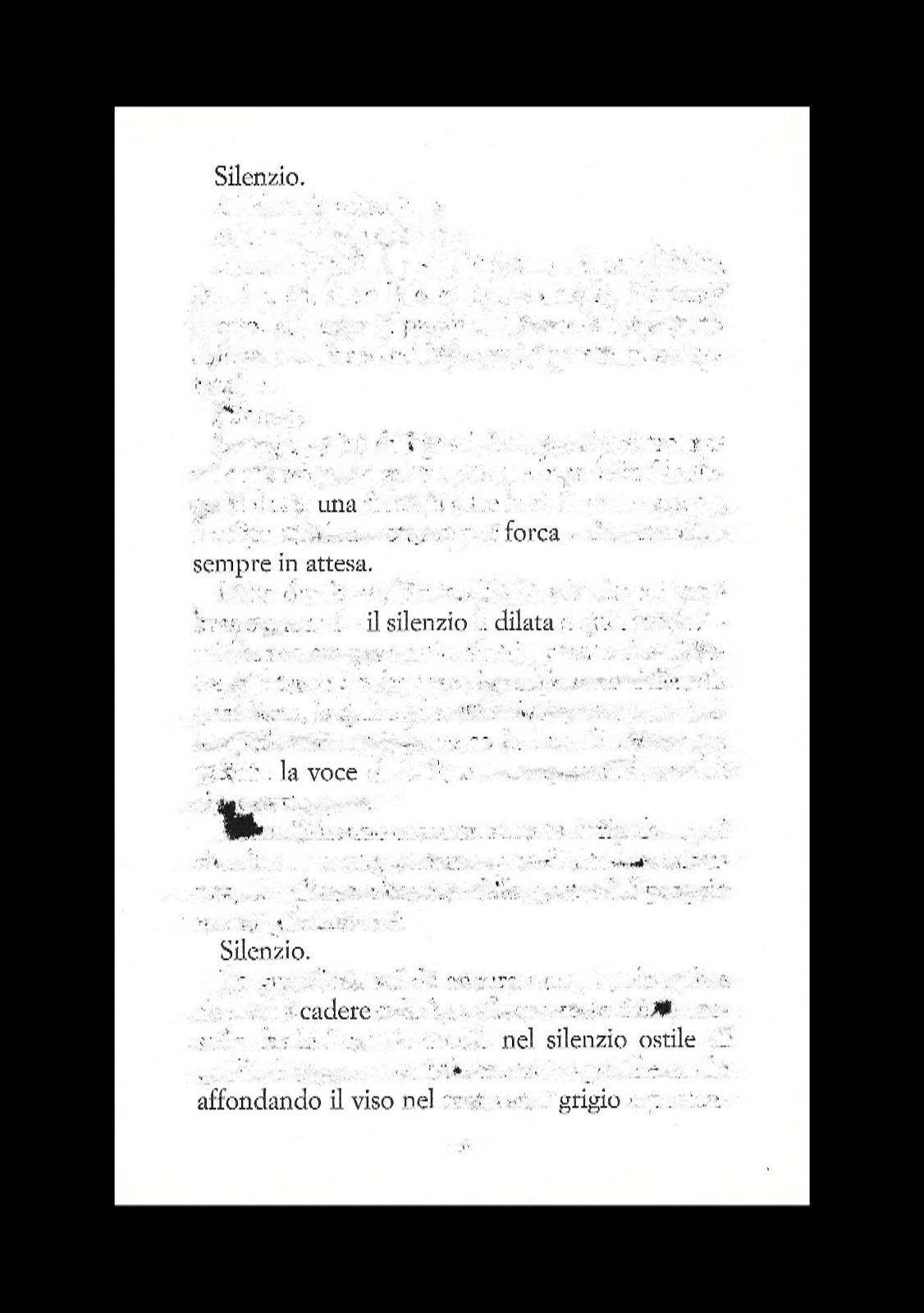 Silenzio - cacciavite su pagina in esilio dal libro - cornice 18x24 - 2021